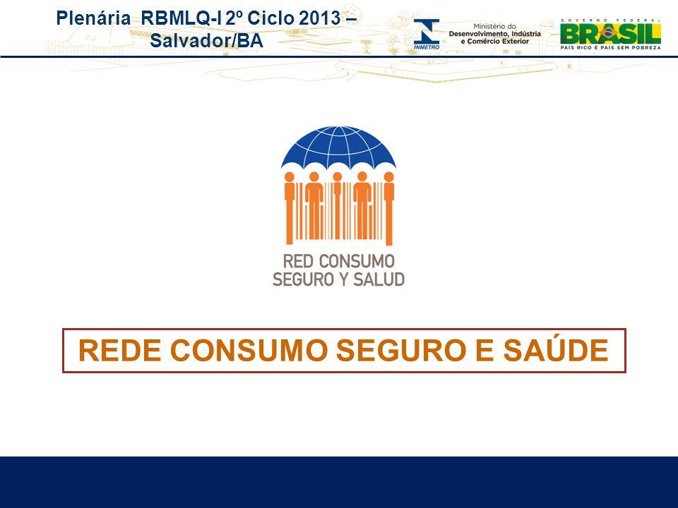 Plenária RBMLQ-I 2º Ciclo 2013 – Salvador/BA REDE CONSUMO SEGURO E SAÚDE