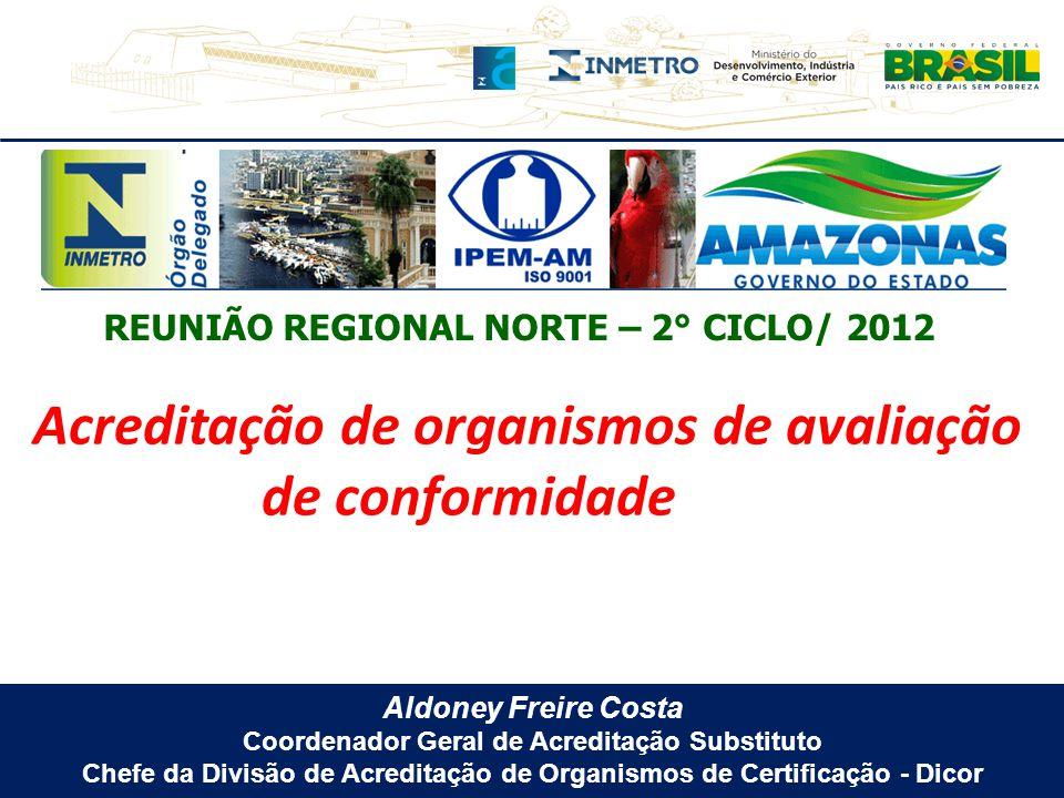 Aldoney Freire Costa Coordenador Geral de Acreditação Substituto Chefe da Divisão de Acreditação de Organismos de Certificação - Dicor Acreditação de