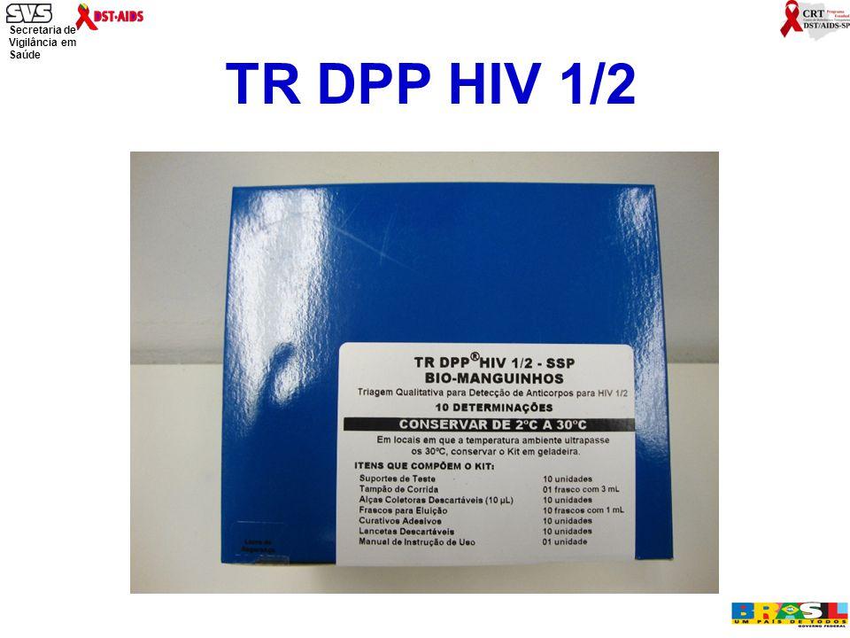Secretaria de Vigilância em Saúde Ministério da Saúde TR DPP HIV 1/2