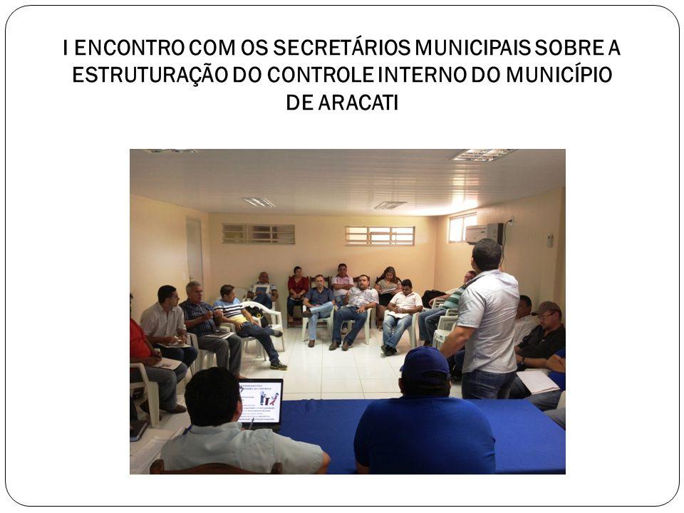 I ENCONTRO COM OS SECRETÁRIOS MUNICIPAIS SOBRE A ESTRUTURAÇÃO DO CONTROLE INTERNO DO MUNICÍPIO DE ARACATI