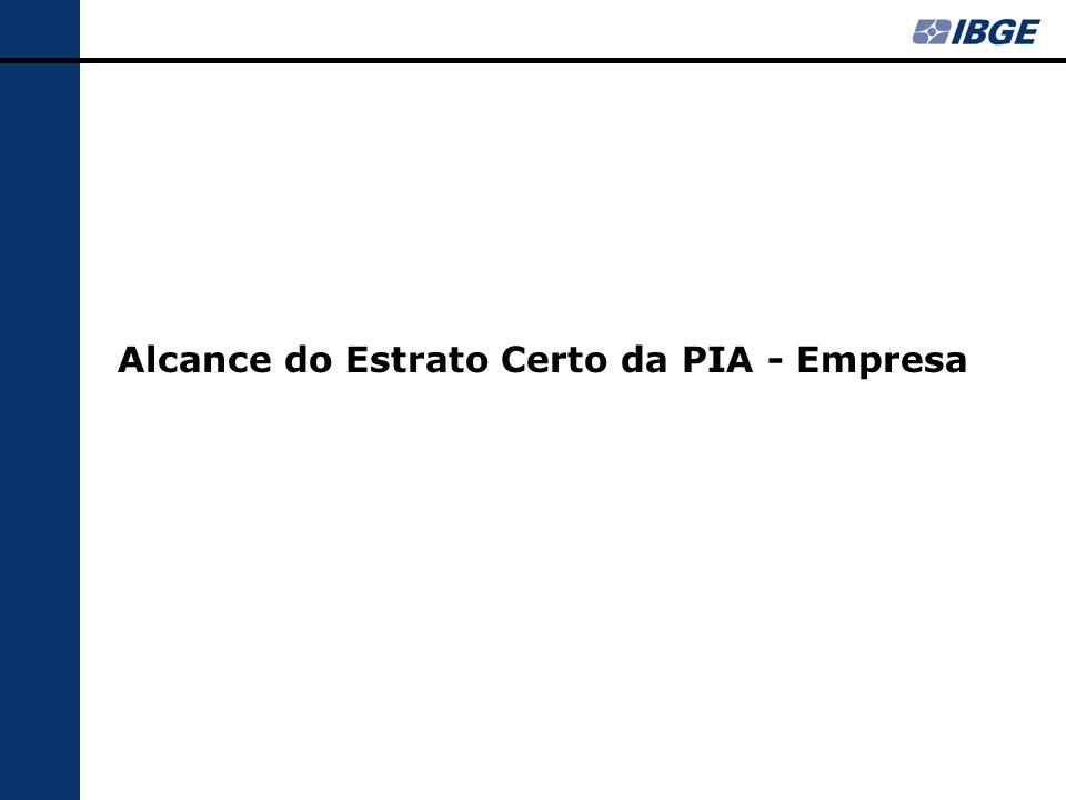 Alcance do Estrato Certo da PIA - Empresa