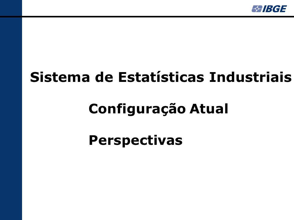 Índices para regiões selecionadas: - por atividade (2 ou 3 dígitos da CNAE)*  Índices Especiais para Brasil: - insumos típicos da construção - subsetores de bens de capital - intensidade no consumo de energia elétrica - intensidade exportadora - Agroindústria - categorias de uso, segundo atividade - PIM-PF compatível com PIMES * há séries ajustadas sazonalmente para o total da indústria