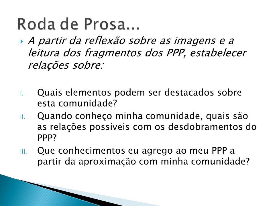  Socialização da Roda de Prosa no grupão  Síntese/Registro das reflexões coletivas: