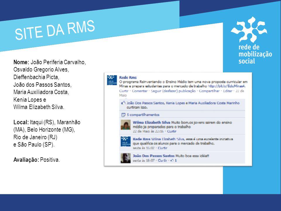SITE DA RMS O texto intitulado Educação de qualidade: Minas Gerais tem! foi replicado no blog Fabrício Nani.