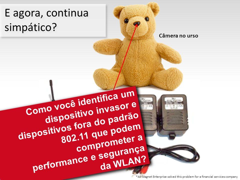 2.4 GHz Wireless Receiver Câmera no urso Pequena câmera dentro do urso E agora, continua simpático? Como você identifica um dispositivo invasor e disp