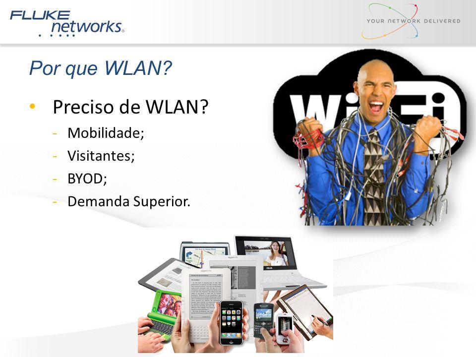 Preciso de WLAN? -Mobilidade; -Visitantes; -BYOD; -Demanda Superior. Por que WLAN?