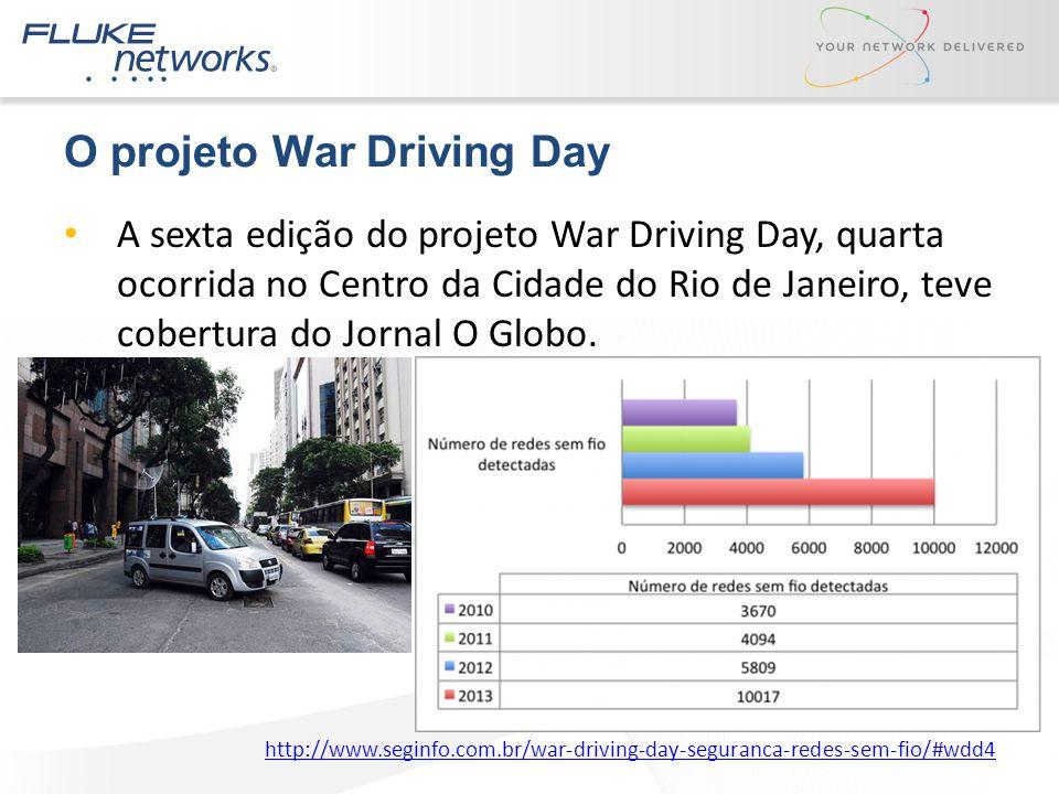 O projeto War Driving Day A sexta edição do projeto War Driving Day, quarta ocorrida no Centro da Cidade do Rio de Janeiro, teve cobertura do Jornal O