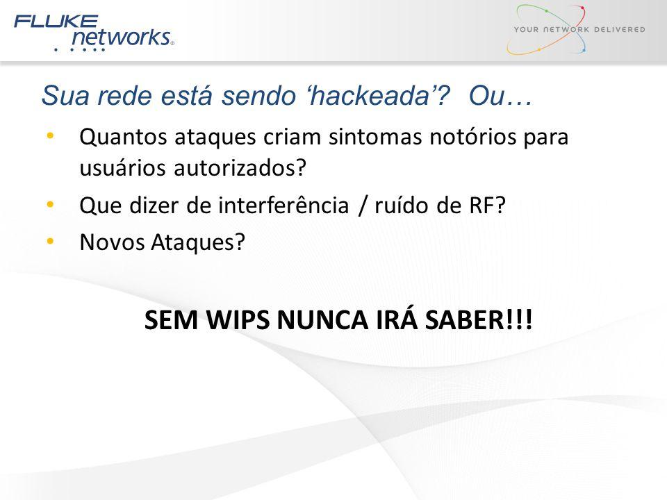 Sua rede está sendo 'hackeada'? Ou… Quantos ataques criam sintomas notórios para usuários autorizados? Que dizer de interferência / ruído de RF? Novos