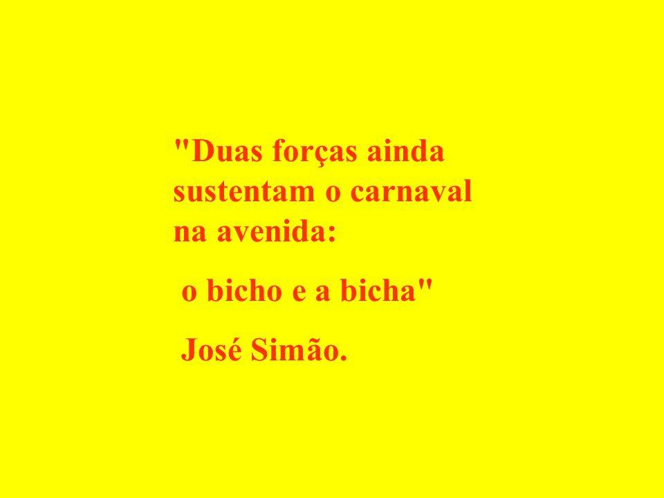 Duas forças ainda sustentam o carnaval na avenida: o bicho e a bicha José Simão.