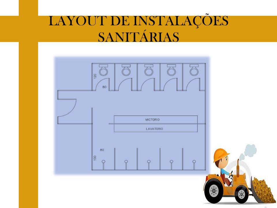 LAYOUT DE INSTALAÇÕES SANITÁRIAS