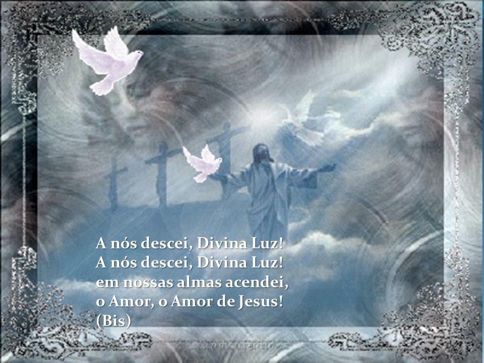 A nós descei, Divina Luz! em nossas almas acendei, o Amor, o Amor de Jesus! (Bis)