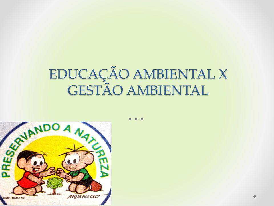 EDUCAÇÃO AMBIENTAL X GESTÃO AMBIENTAL