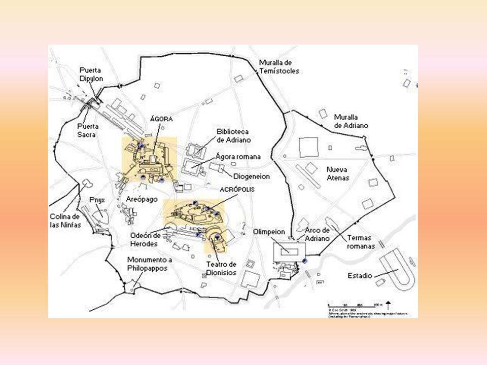 A Ágora situa-se no coração da cidade e era o ponto de encontro dos atenienses.