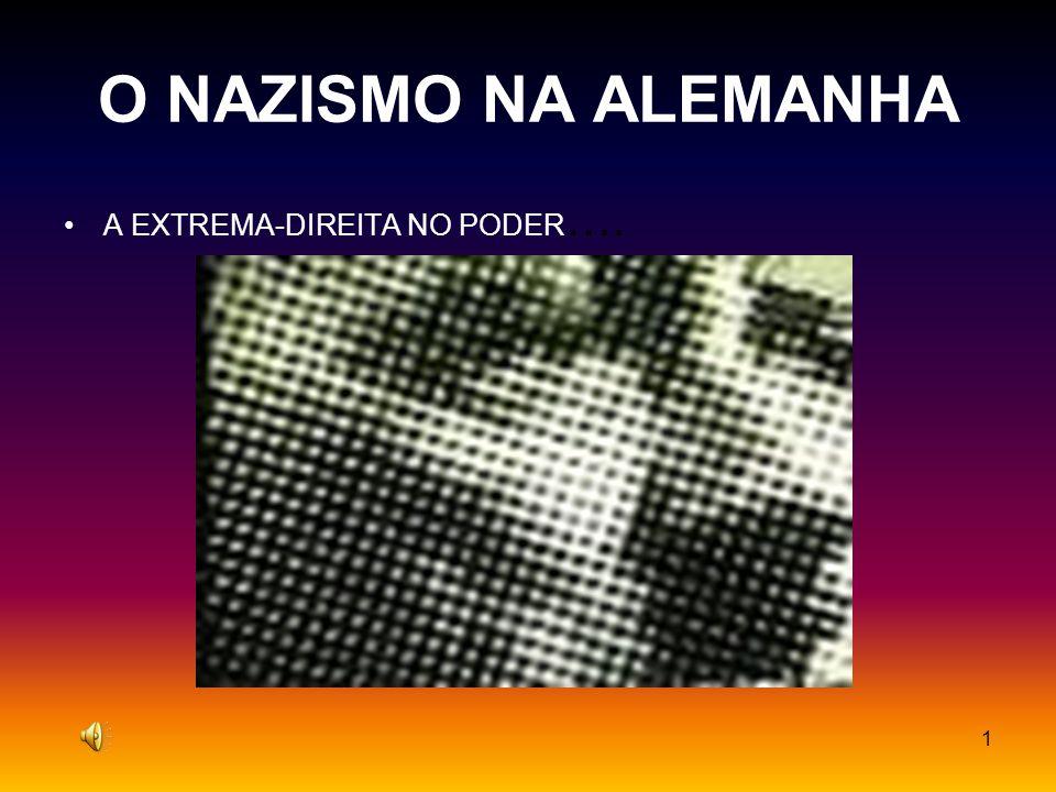 1 O NAZISMO NA ALEMANHA A EXTREMA-DIREITA NO PODER ….