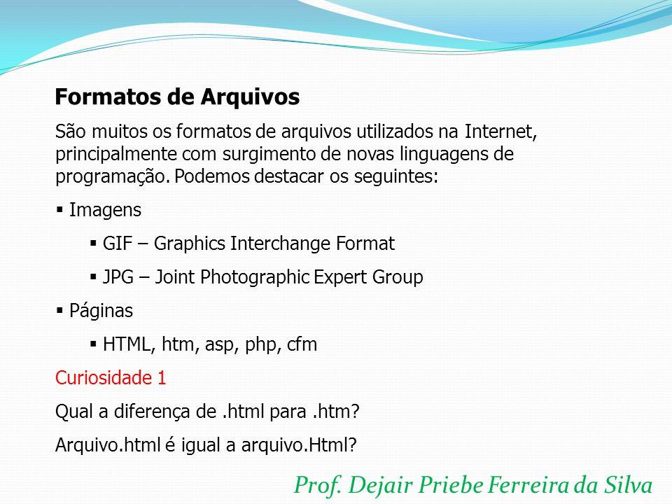 Prof. Dejair Priebe Ferreira da Silva O que colocar no página??