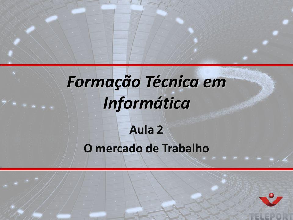 Formação Técnica em Informática Aula 2 O mercado de Trabalho
