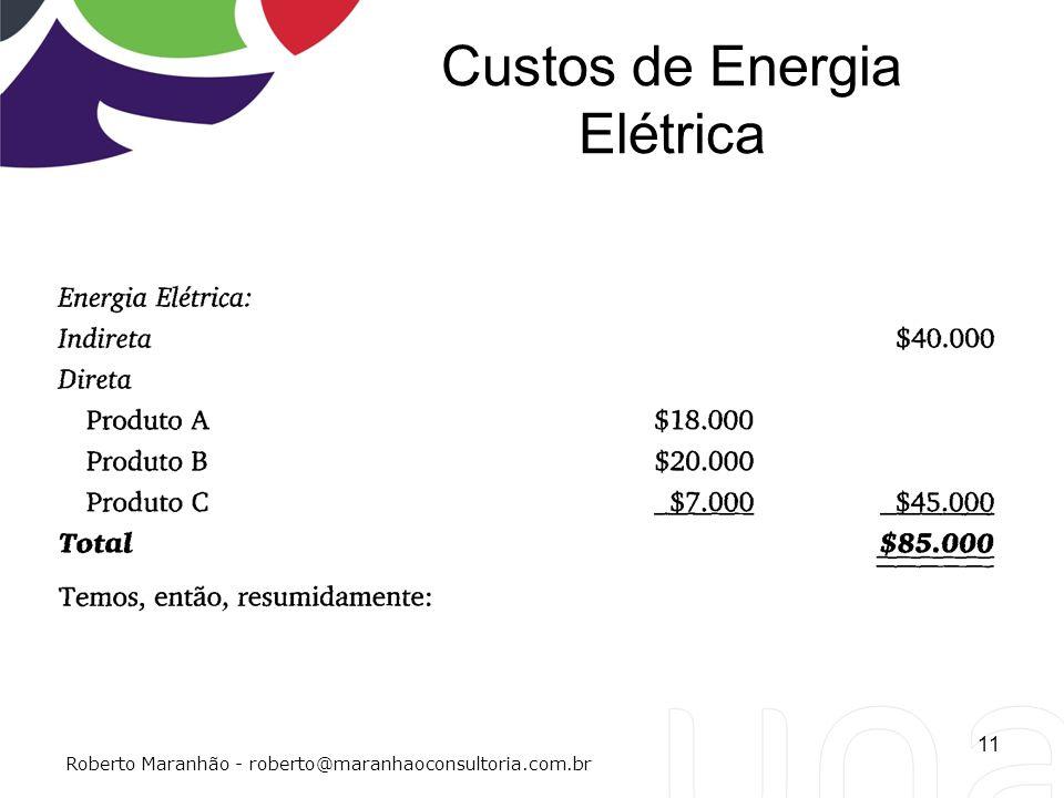 Custos de Energia Elétrica 11 Roberto Maranhão - roberto@maranhaoconsultoria.com.br