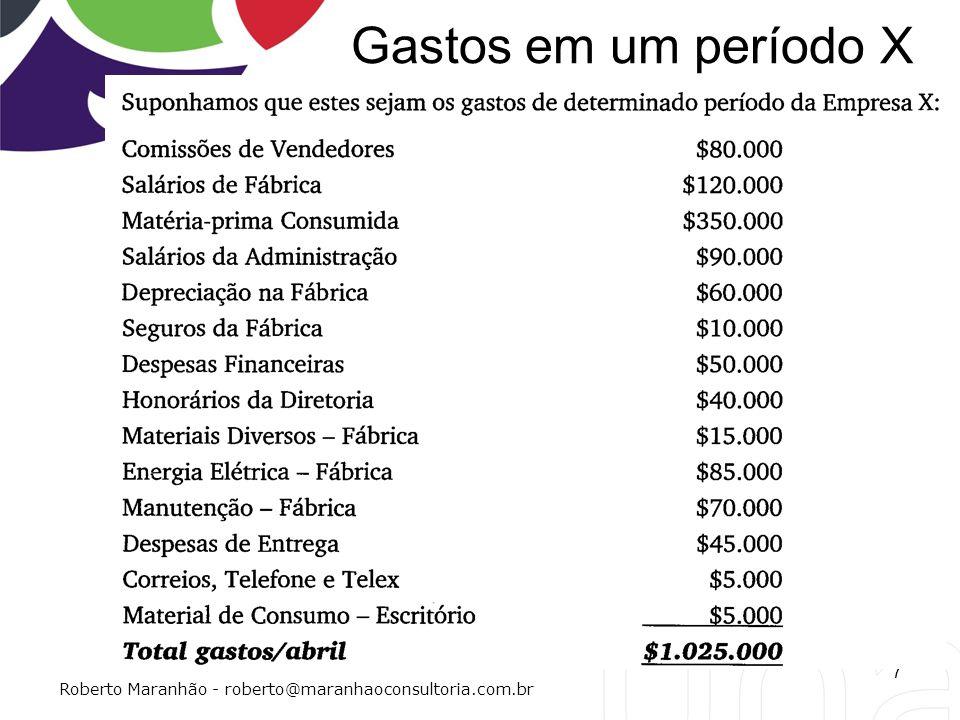 Gastos em um período X 7 Roberto Maranhão - roberto@maranhaoconsultoria.com.br