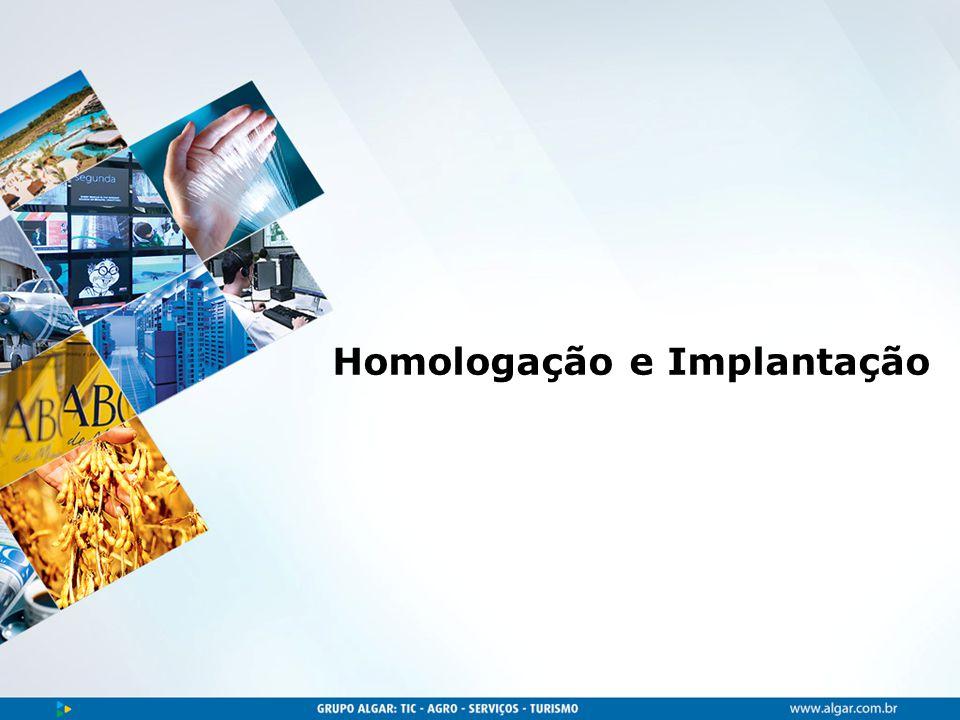 Área, dia/mês/ano Homologação e Implantação