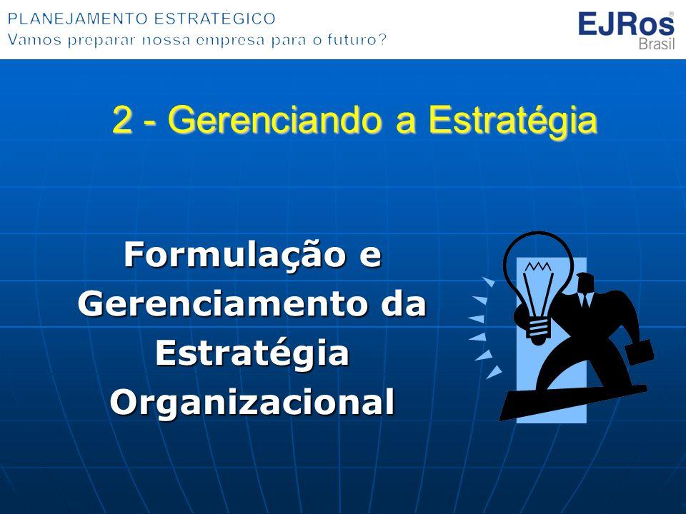 Formulação e Gerenciamento da Estratégia Organizacional 2 - Gerenciando a Estratégia