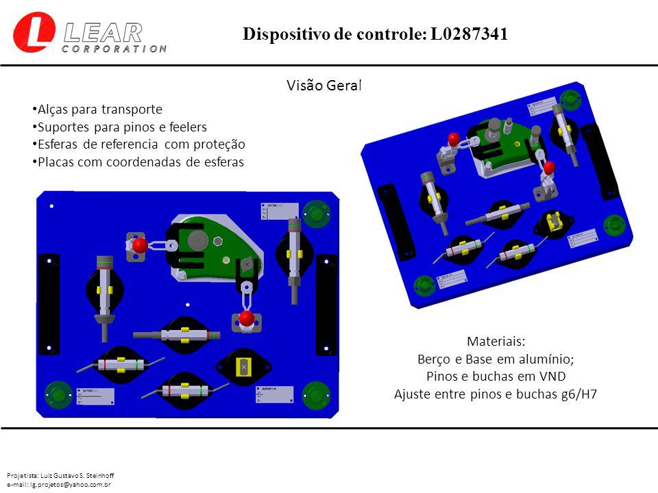 Projetista: Luiz Gustavo S. Steinhoff e-mail: lg.projetos@yahoo.com.br Dispositivo de controle: L0287341 Visão Geral: Materiais: Berço e Base em alumí