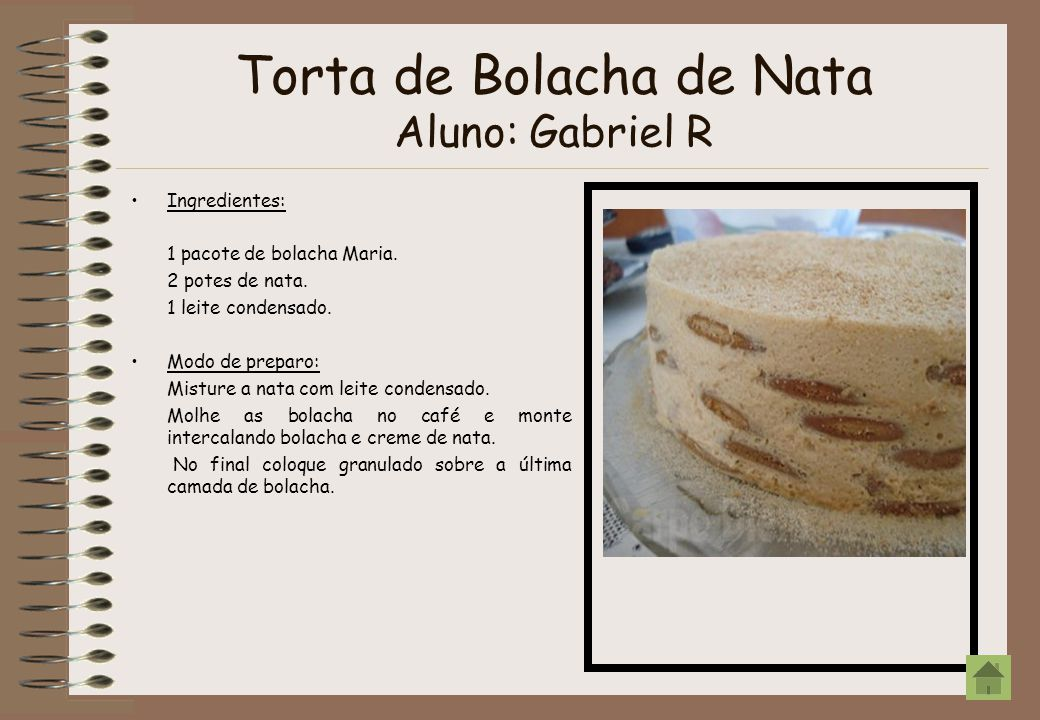 Sobremesa de Bombom Aluno: Gabriel A Ingredientes: 2 latas de leite condensado.