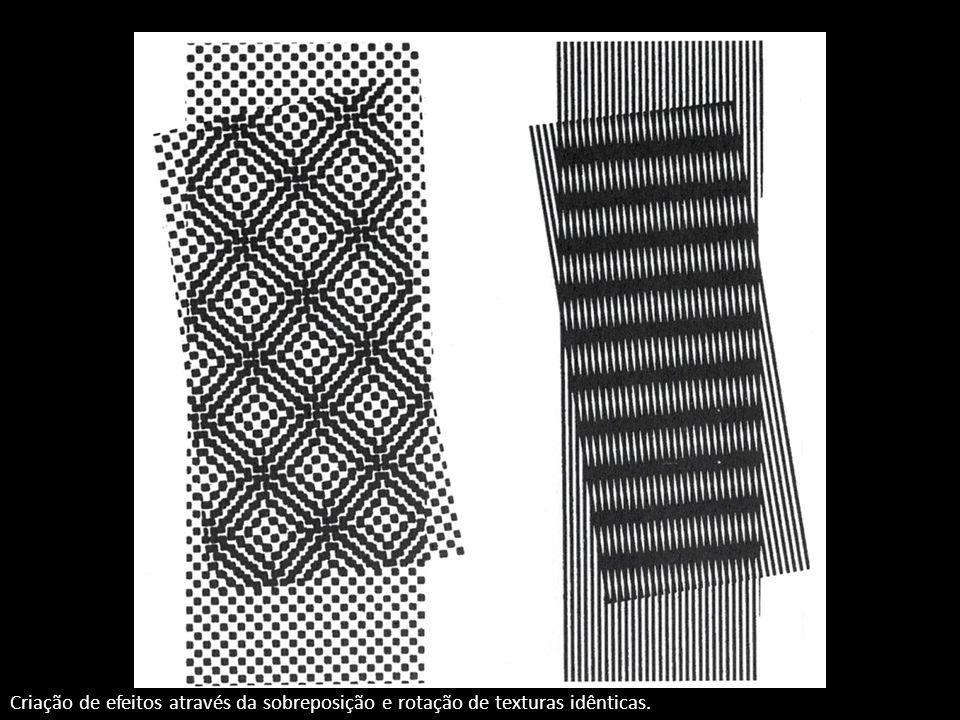 Criação de efeitos através da sobreposição e rotação de texturas idênticas.