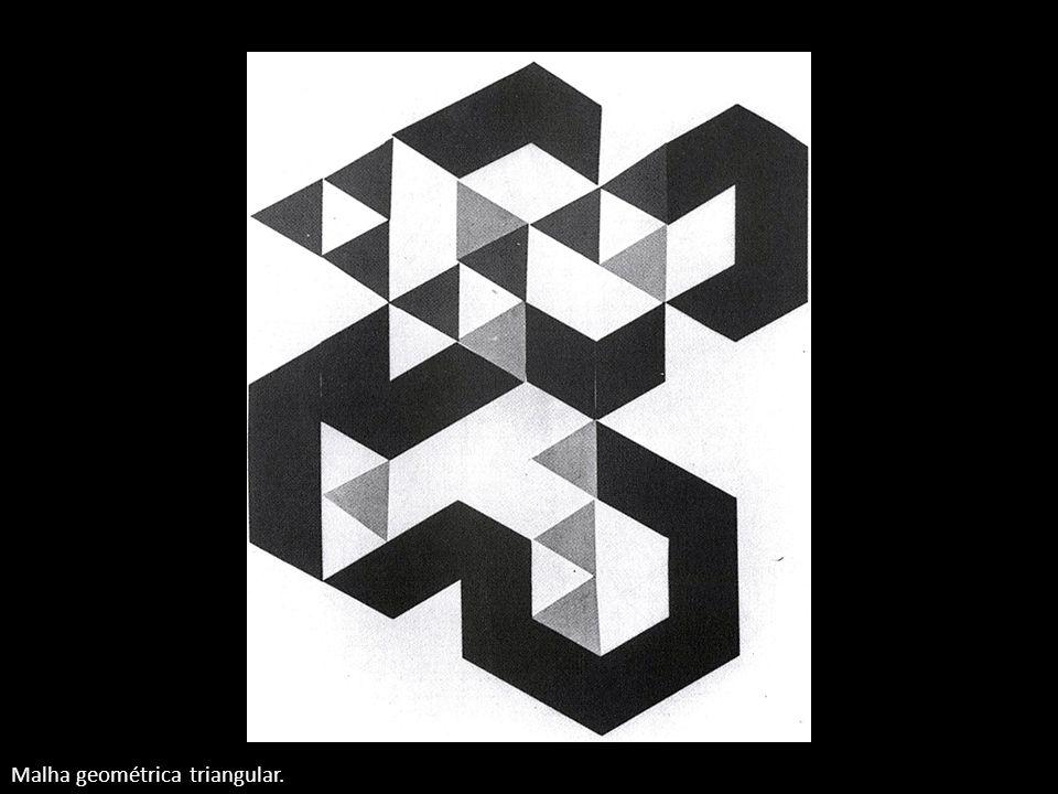 Malha geométrica triangular.