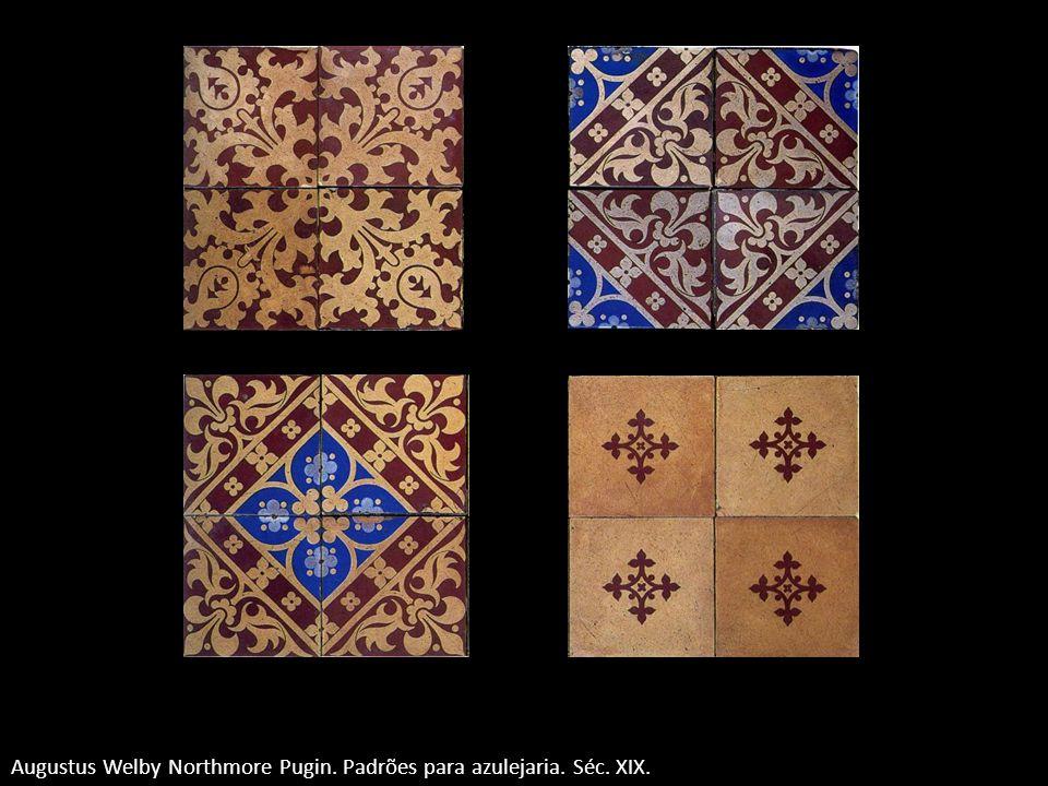 Augustus Welby Northmore Pugin. Padrões para azulejaria. Séc. XIX.