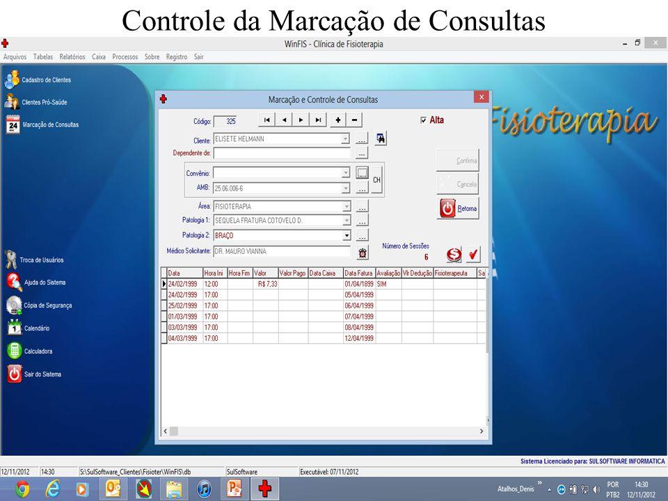Controle da Marcação de Consultas