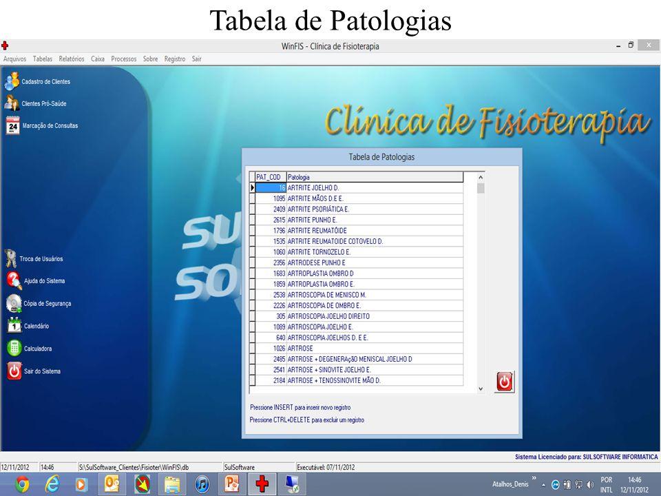 Tabela de Patologias
