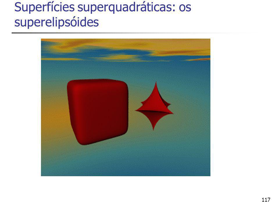 117 Superfícies superquadráticas: os superelipsóides