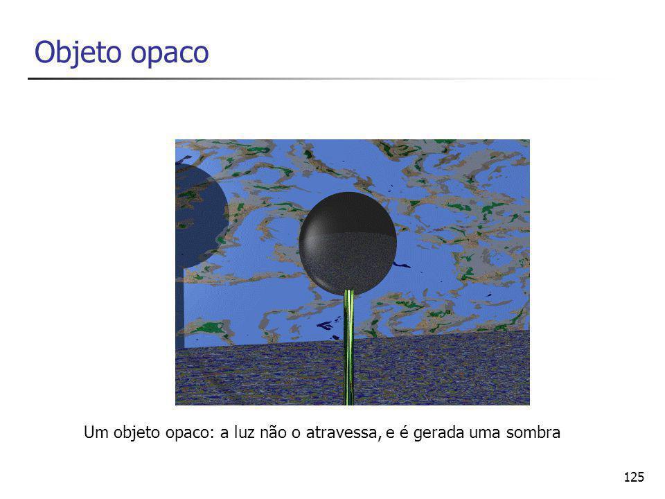 126 Objeto translúcido Um objeto translúcido é parcialmente atravessado pela luz