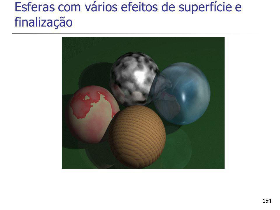 154 Esferas com vários efeitos de superfície e finalização