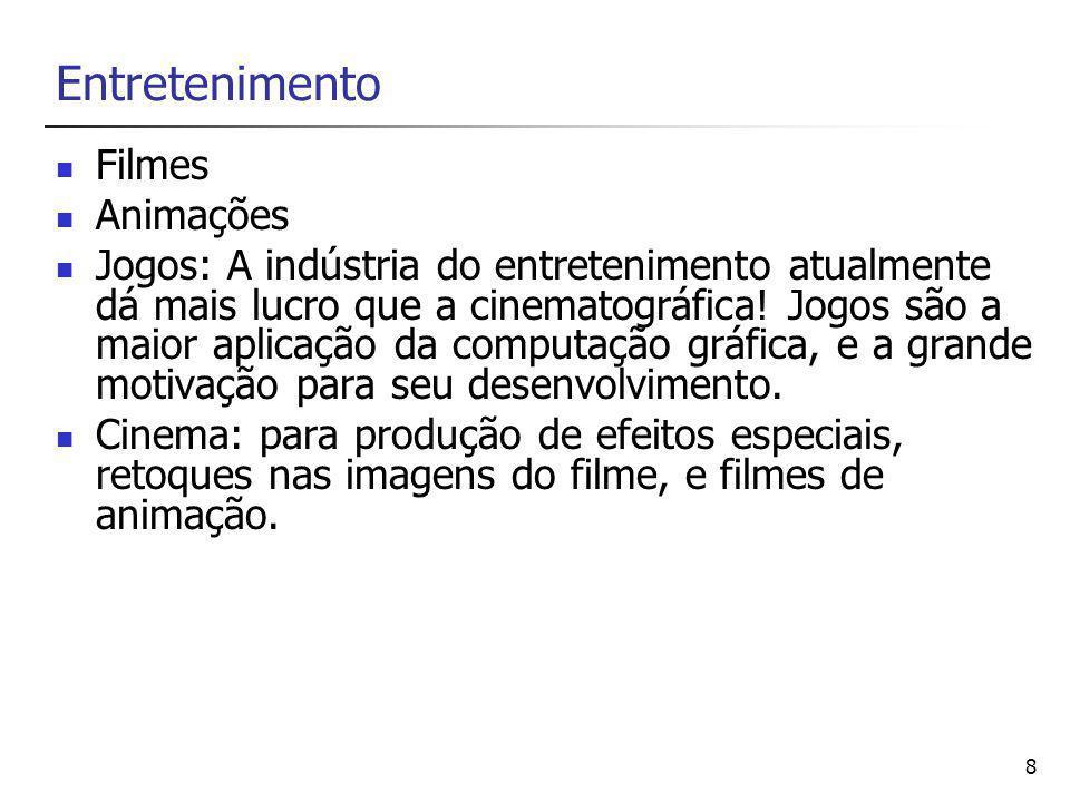 8 Entretenimento Filmes Animações Jogos: A indústria do entretenimento atualmente dá mais lucro que a cinematográfica.