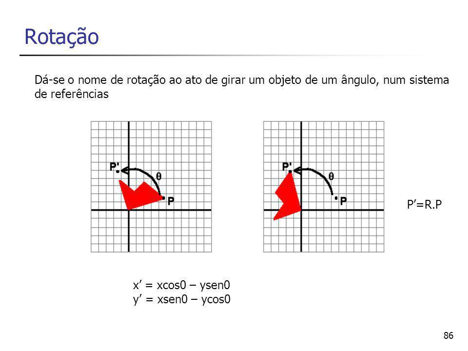 87 Escala x' = x.sx y' = y.