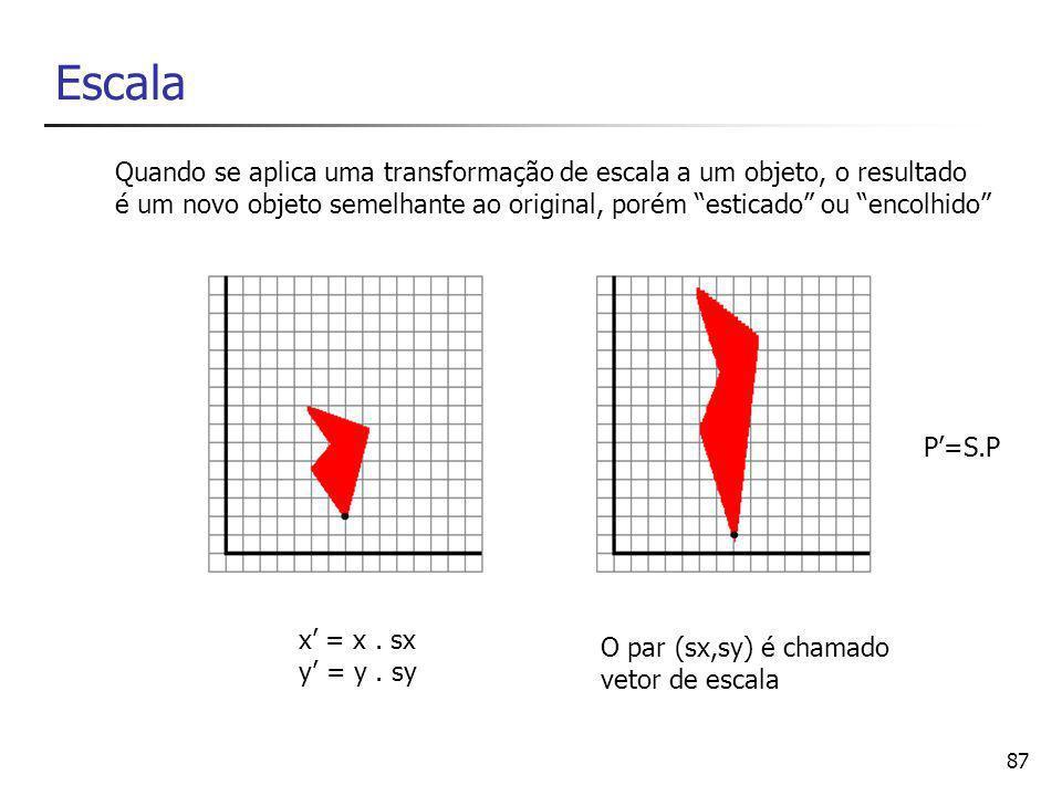 88 9 – Transformações compostas Introdução às coordenadas homogêneas Transformações compostas em coordenadas homogêneas Transformações especiais Transformações afins