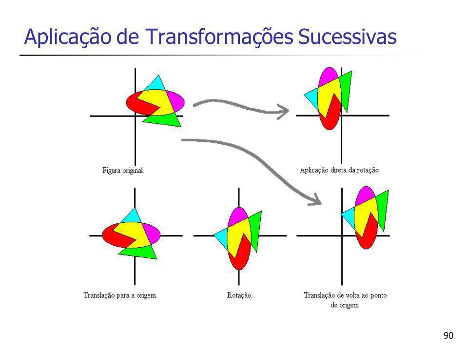 91 Introdução as coordenadas homogêneas Coordenadas homogêneas são uma representação especial dos pontos, vetores e matrizes, a qual facilita a generalização das operações entre esse tipo de objetos Ao expressarmos posições em coordenadas homogêneas, as equações de transformações geométricas ficam reduzidas a multiplicação de matrizes 3 x 3 elementos As coordenadas são representadas por colunas (vetores) de três elementos, e as operações de transformação são matrizes 3x3 elementos