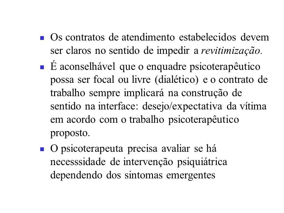 Os contratos de atendimento estabelecidos devem ser claros no sentido de impedir a revitimização.