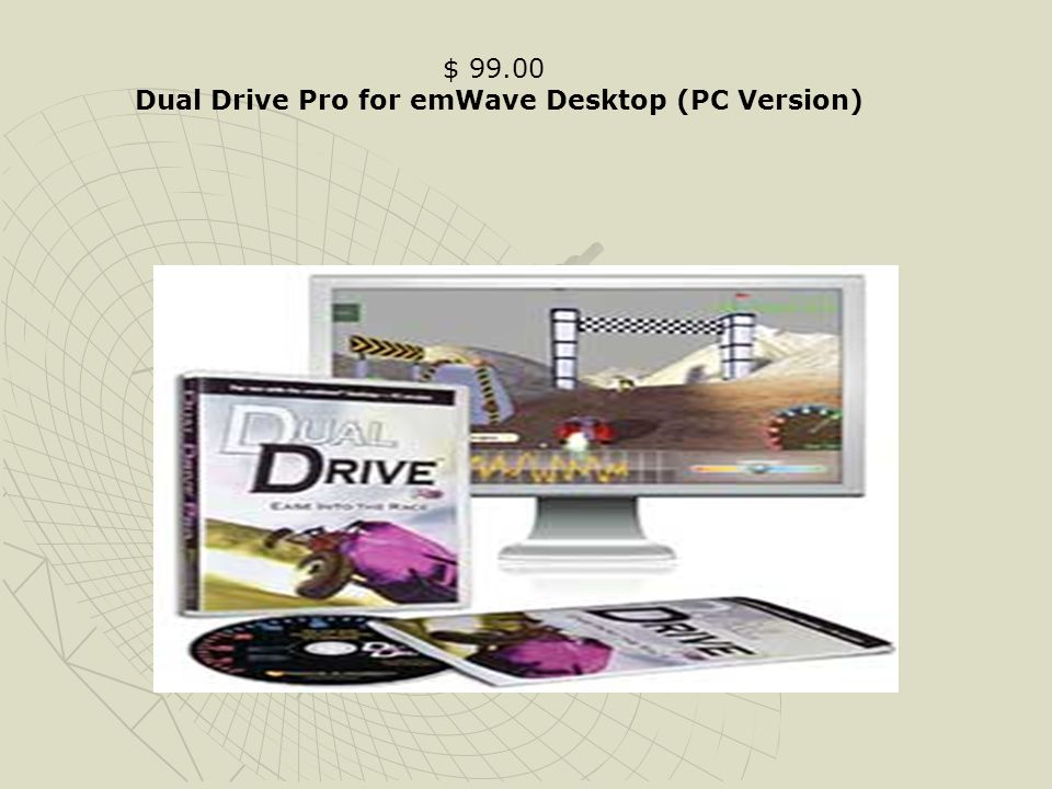 $ 99.00 Dual Drive Pro for emWave Desktop (PC Version)
