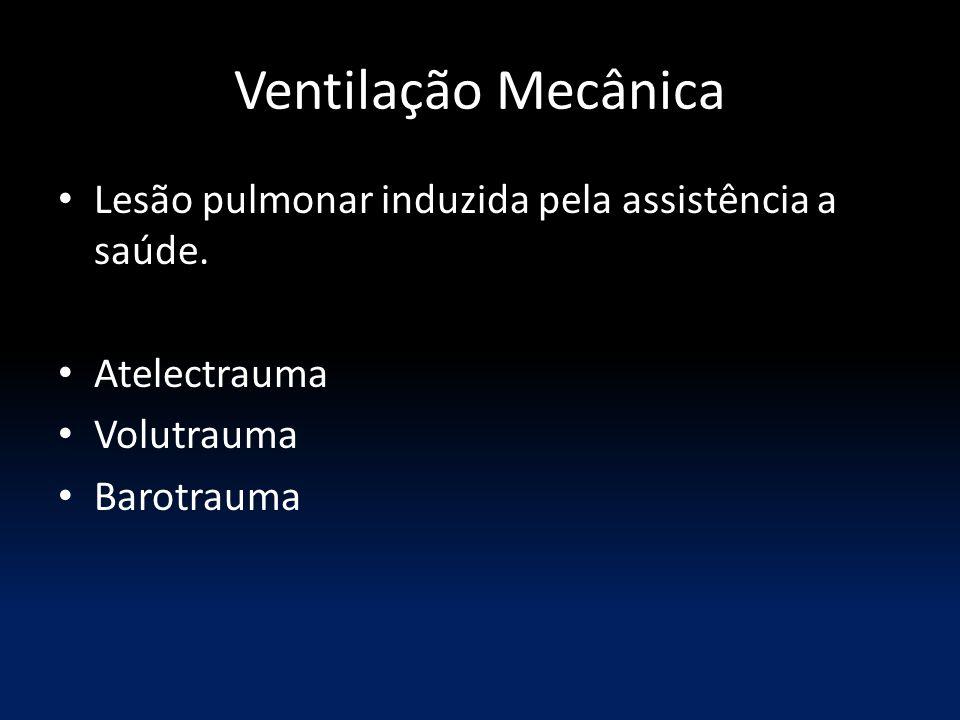 Ventilação Mecânica Lesão pulmonar induzida pela assistência a saúde. Atelectrauma Volutrauma Barotrauma