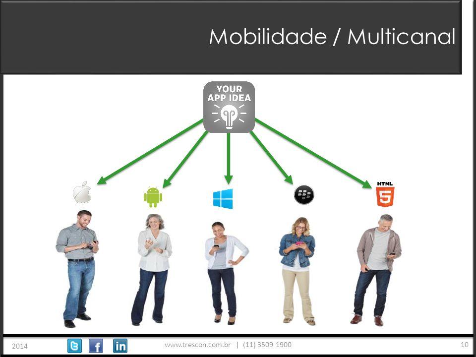 www.trescon.com.br | (11) 3509 1900 2014 10 Mobilidade / Multicanal