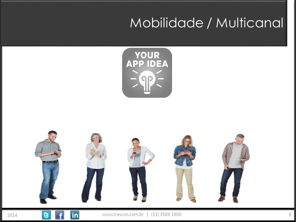 www.trescon.com.br | (11) 3509 1900 2014 8 Mobilidade / Multicanal