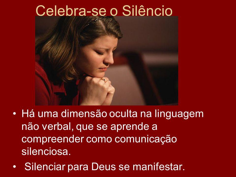 Celebra-se o Silêncio Há uma dimensão oculta na linguagem não verbal, que se aprende a compreender como comunicação silenciosa. Silenciar para Deus se