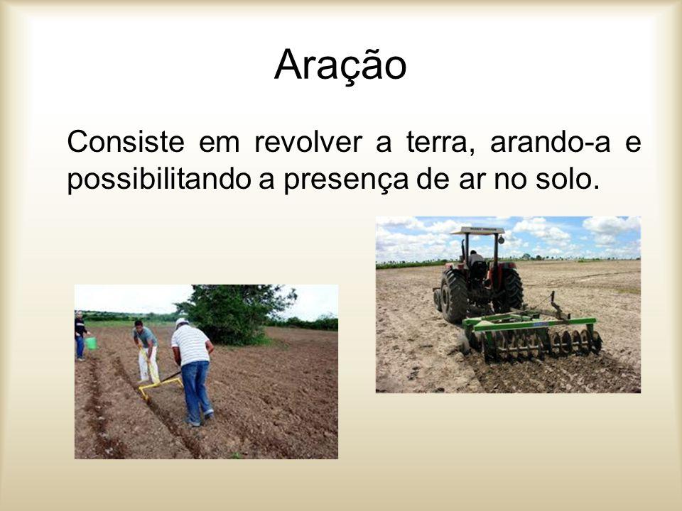 Irrigação Consiste em molhar artificialmente, o terreno cultivado, adequando-o ao tipo de cultivo.