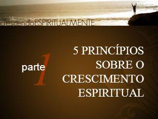 5 PRINCÍPIOS SOBRE O CRESCIMENTO ESPIRITUAL 1 parte