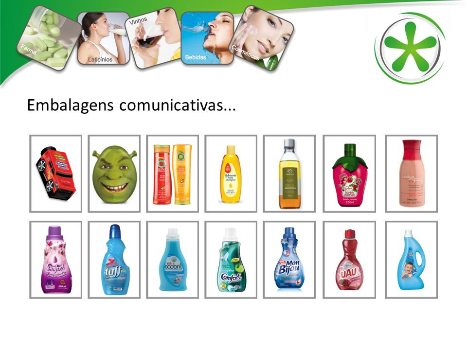 Embalagens comunicativas...