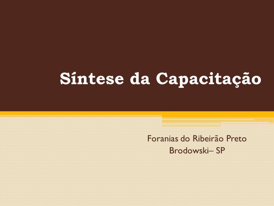 Síntese da Capacitação Foranias do Ribeirão Preto Brodowski– SP