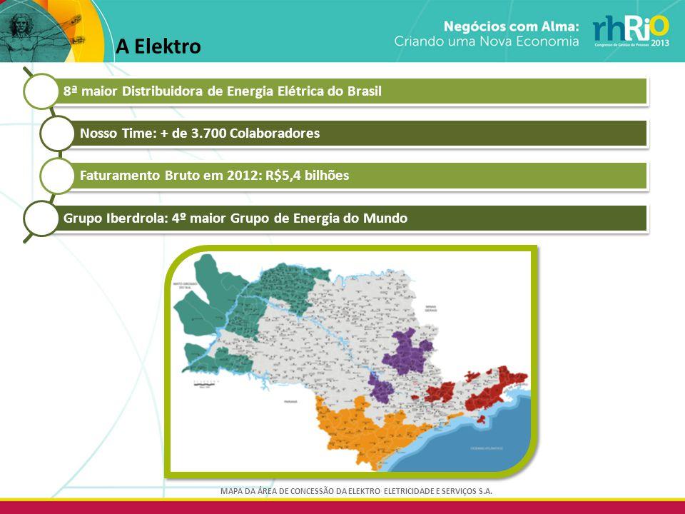 A Elektro MAPA DA ÁREA DE CONCESSÃO DA ELEKTRO ELETRICIDADE E SERVIÇOS S.A.