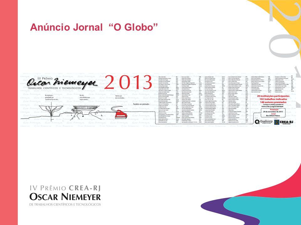 "Anúncio Jornal ""O Globo"""